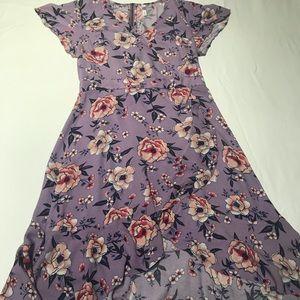 Floral Faux Wrap Dress 🌷